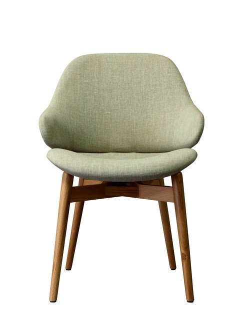 Upholstered easy chair with armrests CIEL! WOODY by TABISSO