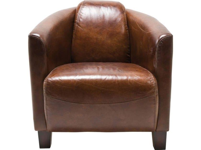 Club cowhide armchair CIGAR LOUNGE | Armchair by KARE-DESIGN