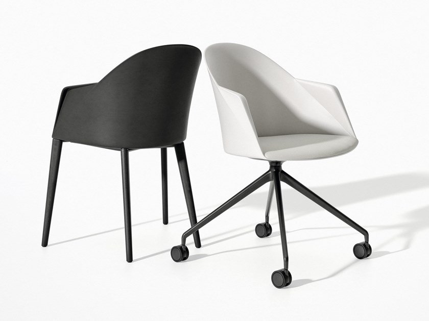 Plastic chair with armrests CILA | Chair with armrests by arper