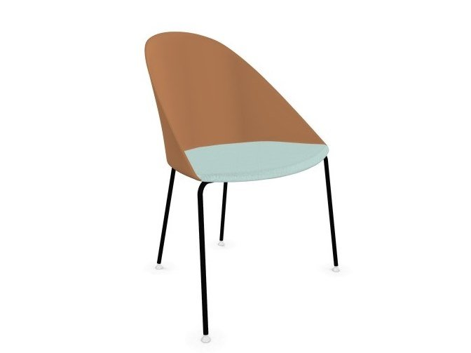 Polypropylene chair with integrated cushion CILA | Chair with integrated cushion by arper
