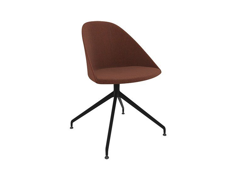 Swivel trestle-based fabric chair CILA | Trestle-based training chair by arper