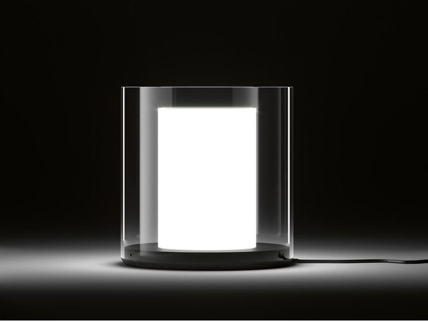 Direct light Pyrex® table lamp CILINDRI by DE PADOVA