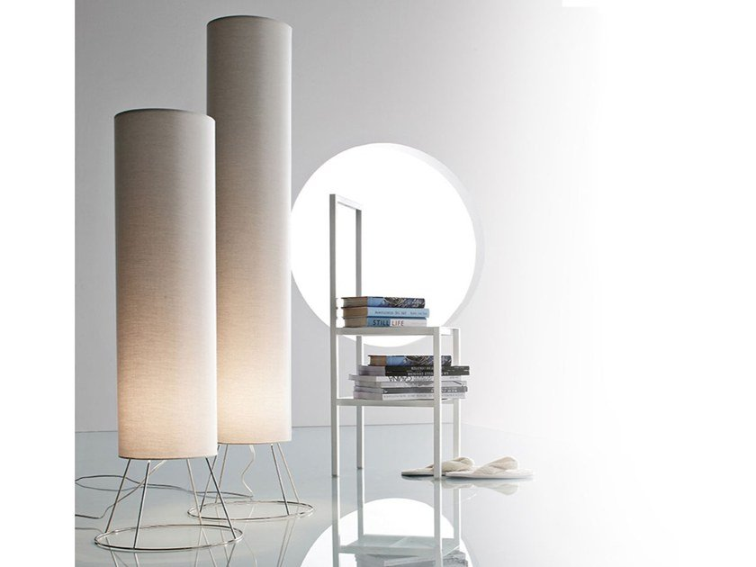 Fabric floor lamp CILINDRO | Floor lamp by Adriani e Rossi edizioni