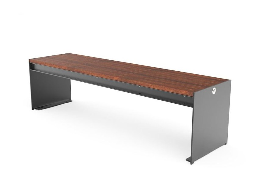 Backless steel Bench CIMA | Backless Bench by City Design