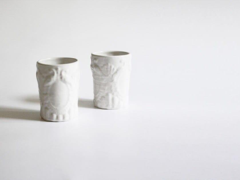 Set of 2 Ceramic glasses CIN by N.O.W. Edizioni