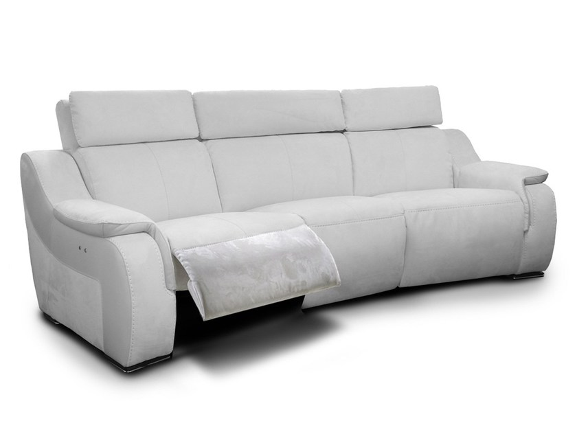 Recliner 4 seater Nabuk sofa CINEMAX HOME by Nieri