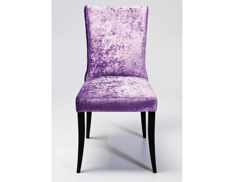 Upholstered fabric chair CINTURA PURPLE RING by KARE-DESIGN
