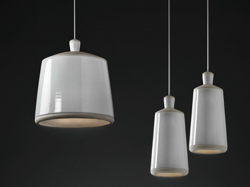 Raw clay pendant lamp CIOCCO by ILIDE