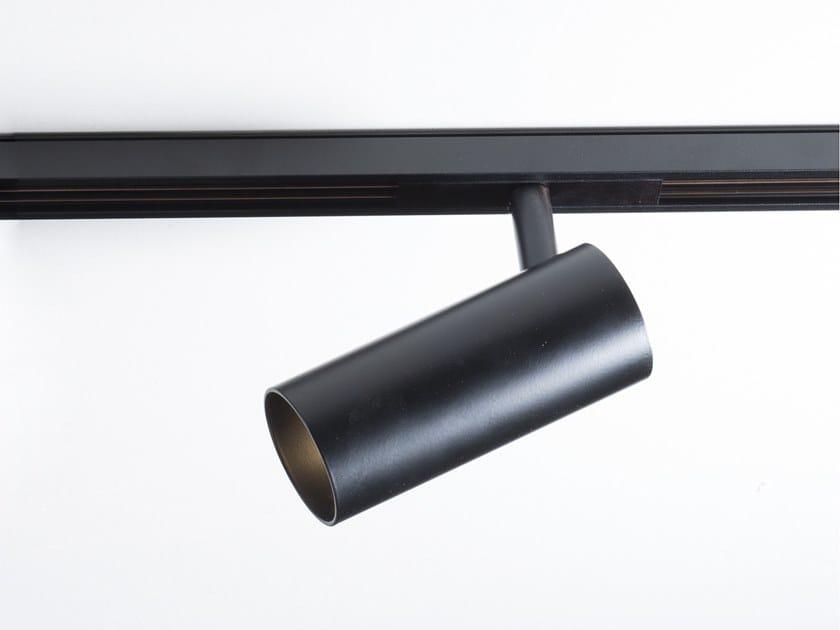 Faretto orientabile in alluminio per binario elettrificato CIP by Martinelli Luce