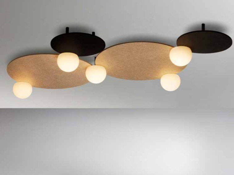 Acoustic LED ceiling lamp CIRC T-3825 by Estiluz