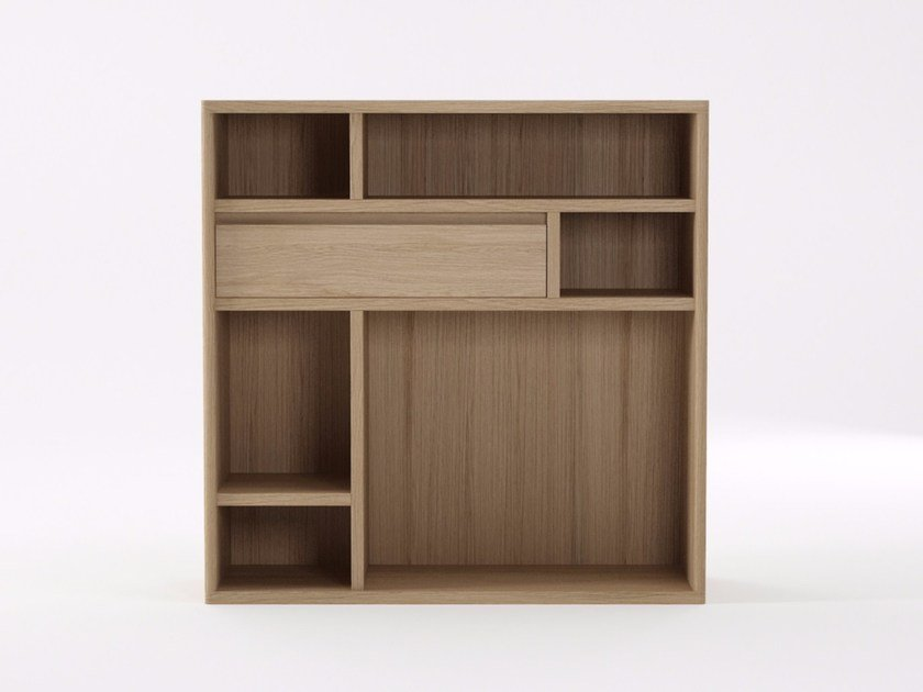Wooden highboard with drawers CIRCA17 | Highboard by KARPENTER