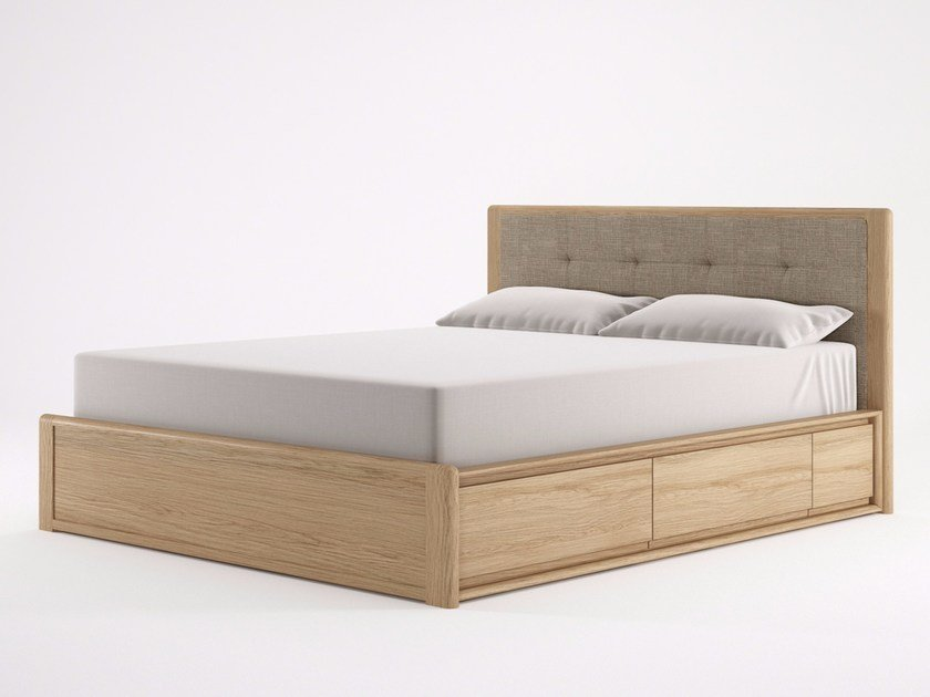 Wooden queen size bed CIRCA17 | Queen size bed by KARPENTER