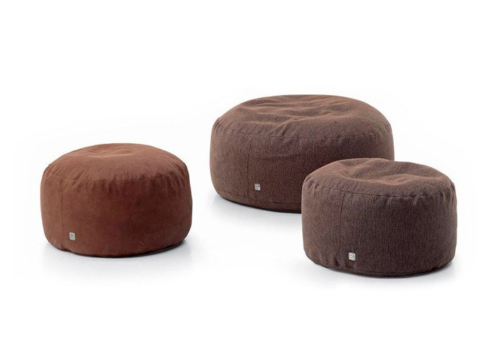 Round fabric pouf CIRCLE by Busnelli