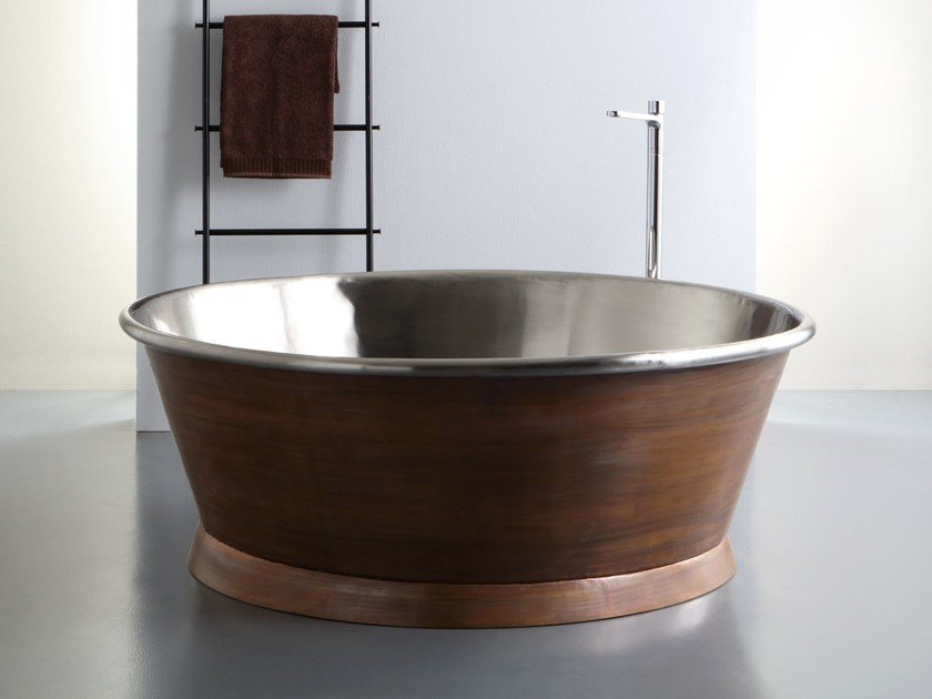 Round copper bathtub CIRCLE by BLEU PROVENCE