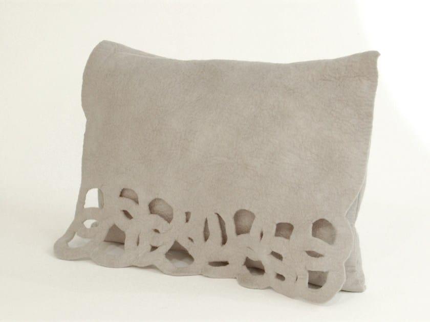 Wool felt cushion CIRCLE   Wool felt cushion by Ronel Jordaan