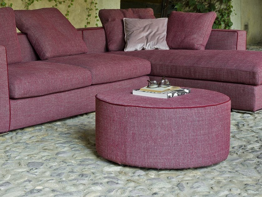 Round fabric pouf CIRCLE by Flexstyle