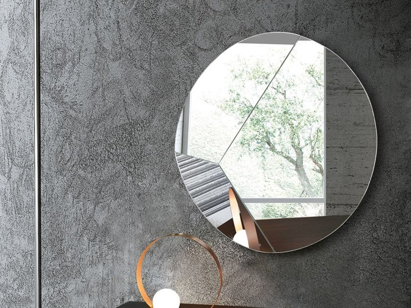 Round wall-mounted mirror CIRCLE by RIFLESSI