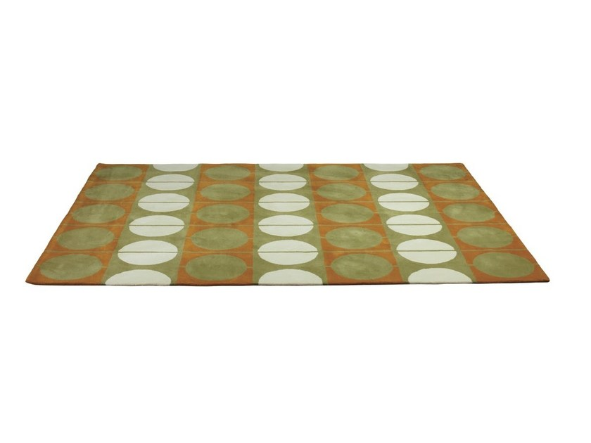 Handmade wool rug with geometric shapes CIRCLE RUG by Onecollection