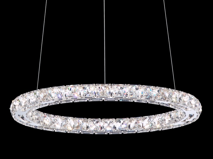 LED pendant lamp with Swarovski® Crystals CIRCLE by Swarovski