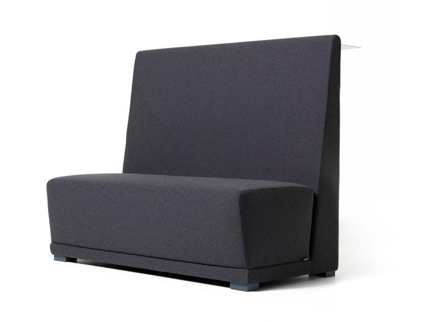 High-back fabric small sofa CIRCUIT | High-back small sofa by Diemme