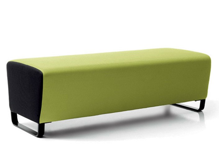 Upholstered modular bench CIRCUIT | Bench by Diemme