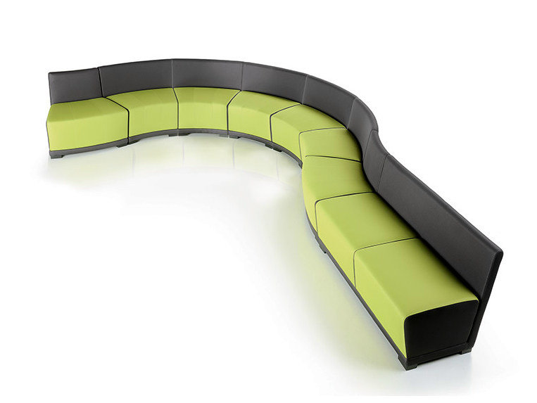 Round bench with back CIRCUIT | Modular bench by Diemme
