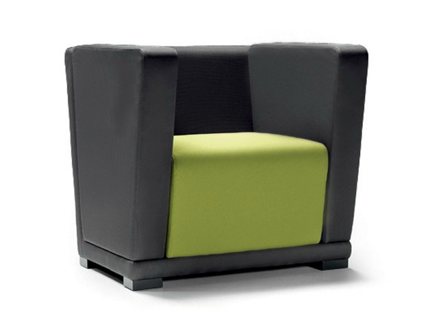 Sectional armchair with armrests CIRCUIT | Armchair with armrests by Diemme