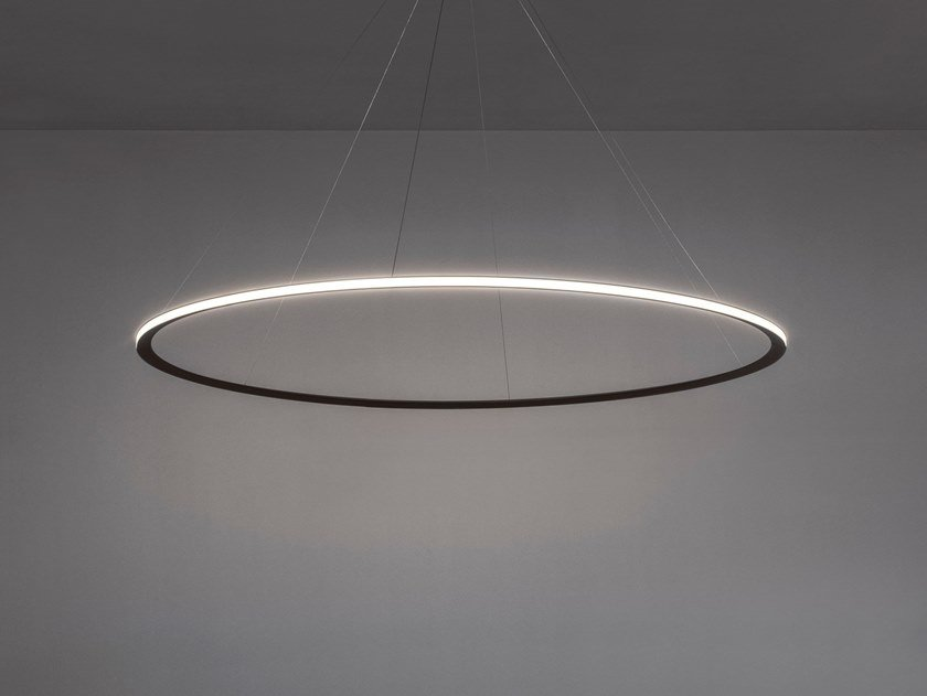 LED indirect light extruded aluminium pendant lamp CIRCULAR by Grok