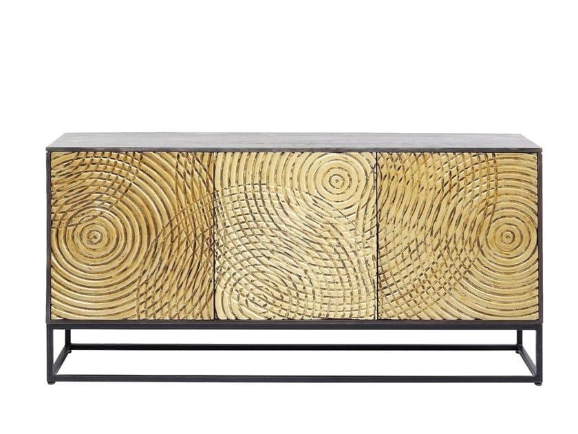 Acacia sideboard with doors CIRCULO   Sideboard by KARE-DESIGN