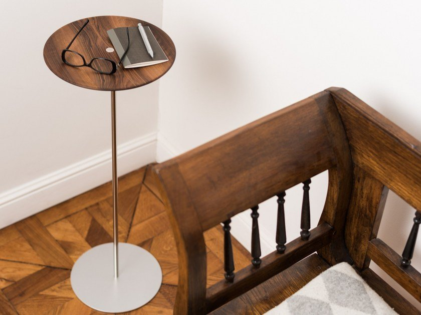 Walnut coffee table / pin tray CIRCULUM WAVE STANDING by PIKKA