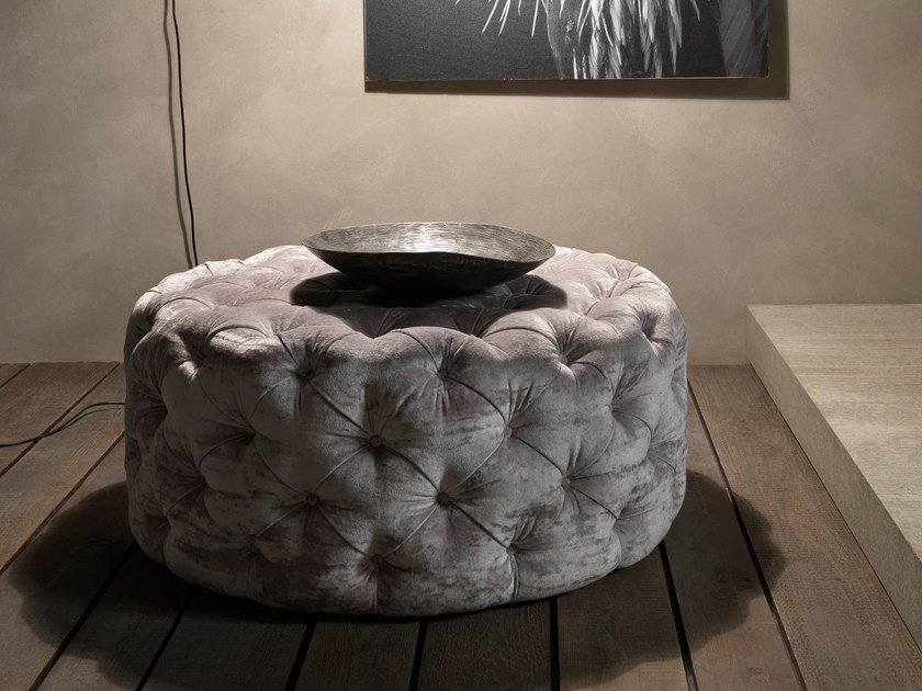 Tufted fabric pouf CIRCUS | Tufted pouf by Bolzan Letti