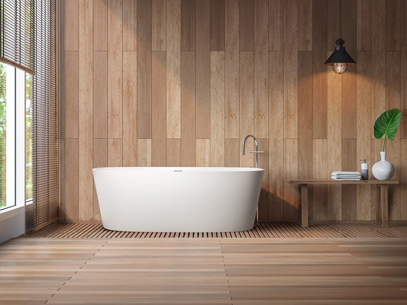 Freestanding Cristalplant® bathtub CITADINE by AQUAdesign