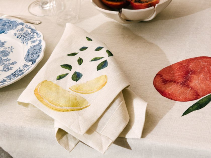 Breakfast set (6 placemats + 6 napkins) CITRUS | Placemat by The NapKing