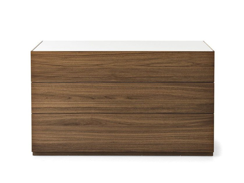 Wood veneer chest of drawers CITY | Chest of drawers by Calligaris