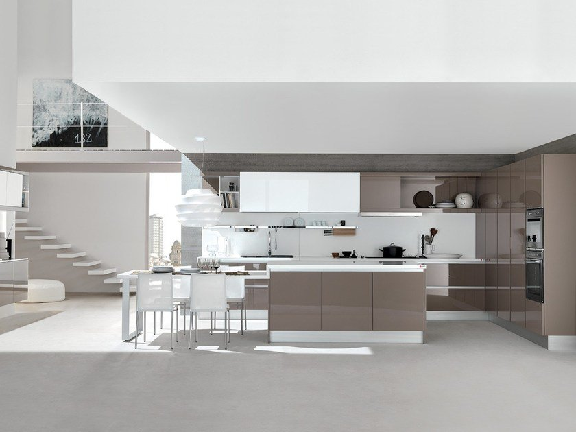 Fitted kitchen with island CITY | Kitchen by Febal Casa
