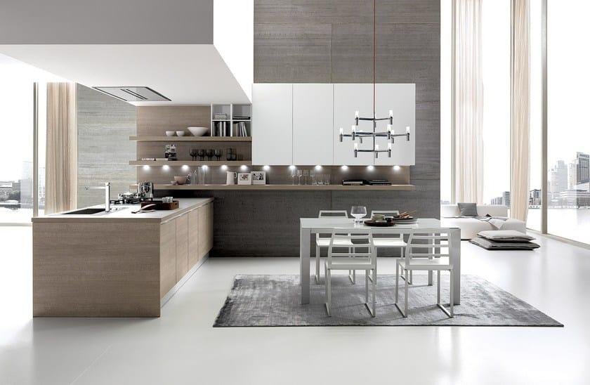 CITY | Cucina senza maniglie By Febal Casa design Alfredo Zengiaro