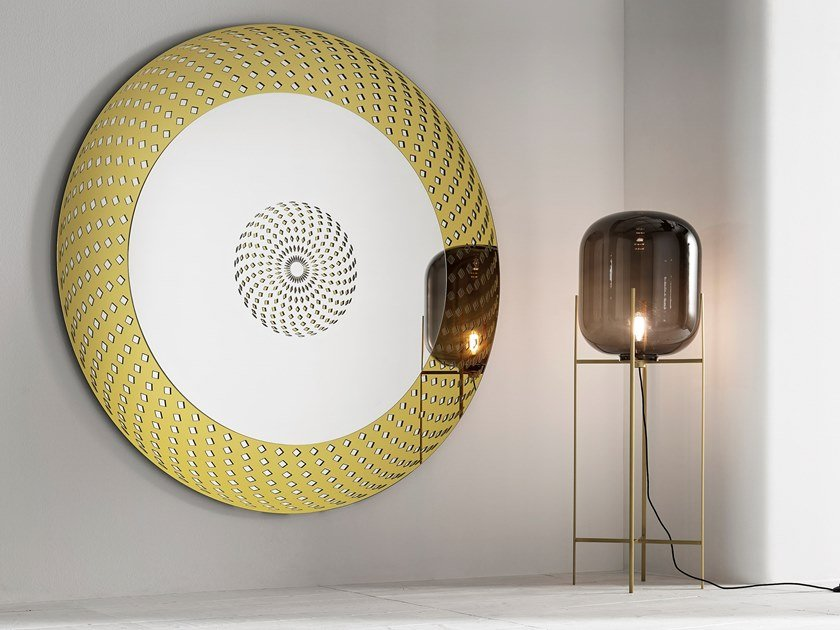 Round wall-mounted mirror CITY LIFE by Tonelli Design