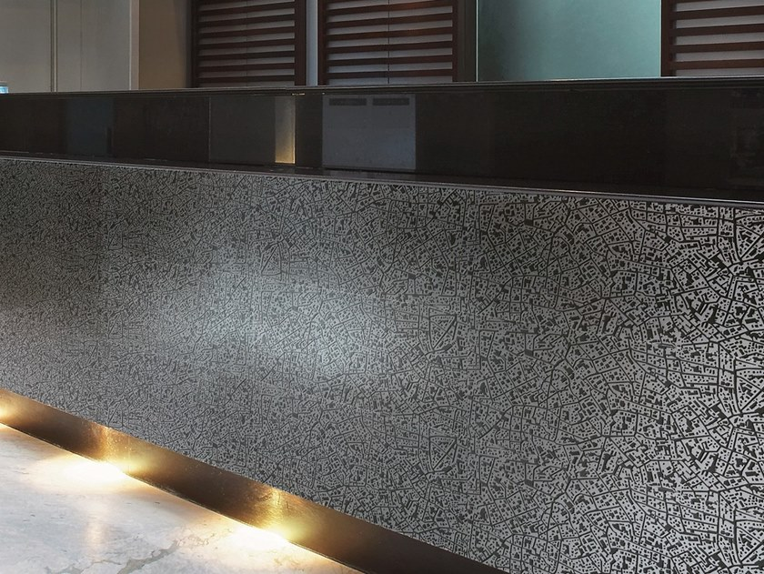 Porcelain stoneware wall/floor tiles with metal effect CITY MOSCOVA ANTRACITE 3D by LEA CERAMICHE