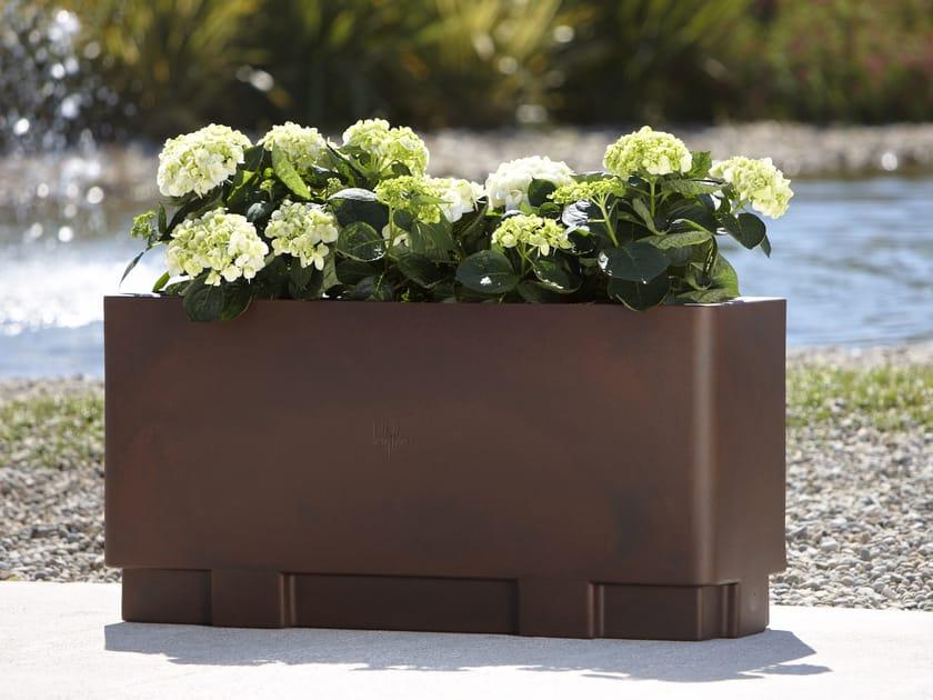 Rectangular polyethylene plant pot with automatic watering CITY   Rectangular plant pot by Hobby Flower