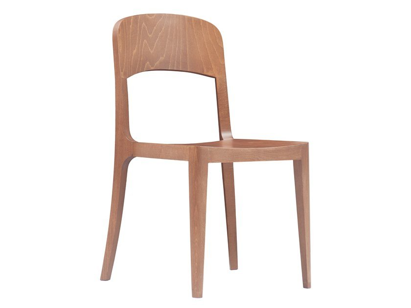 Open back wooden chair CITY by Italcollections