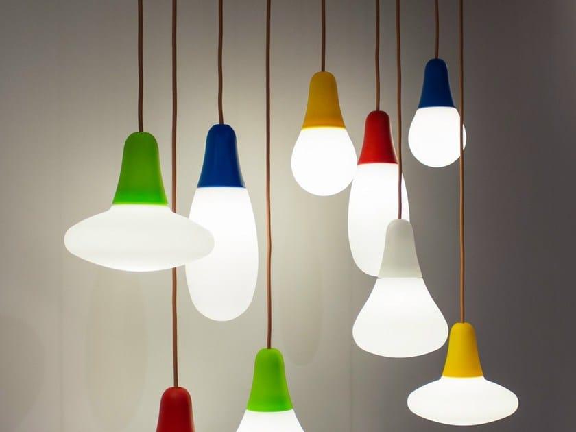 Direct light polyethylene pendant lamp CIULIFRULI by Martinelli Luce