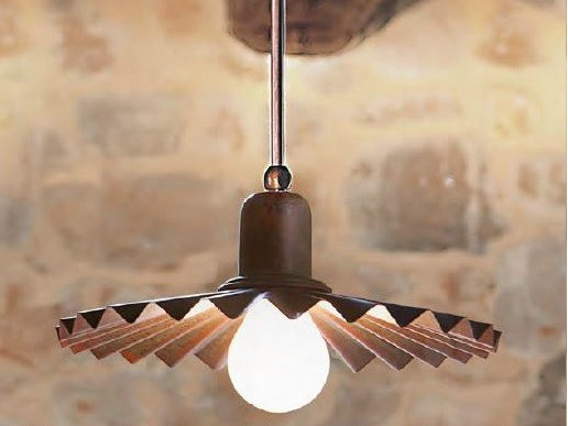 Direct light brass pendant lamp civetta pendant lamp by aldo bernardi