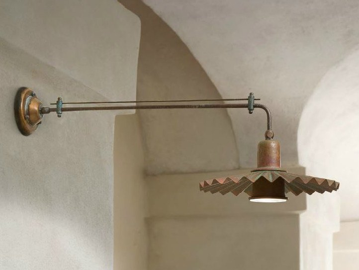 Brass wall lamp with fixed arm CIVETTA | Wall lamp with fixed arm by Aldo Bernardi