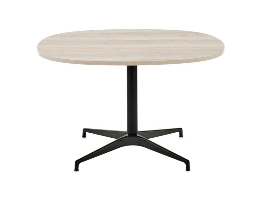 Oval table with 4-star base CIVIC   Oval table by Herman Miller