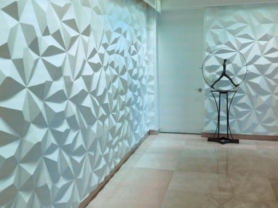 Modular indoor gypsum 3D Wall Panel CL31 «FACET» By Staff Décor
