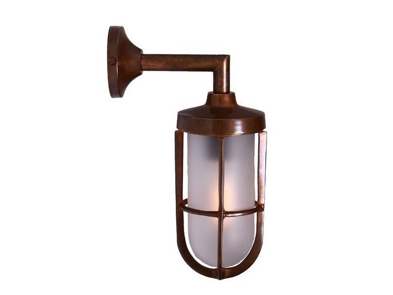 Direct light handmade wall lamp CLADACH BRASS WELL GLASS WALL LIGHT by Mullan Lighting