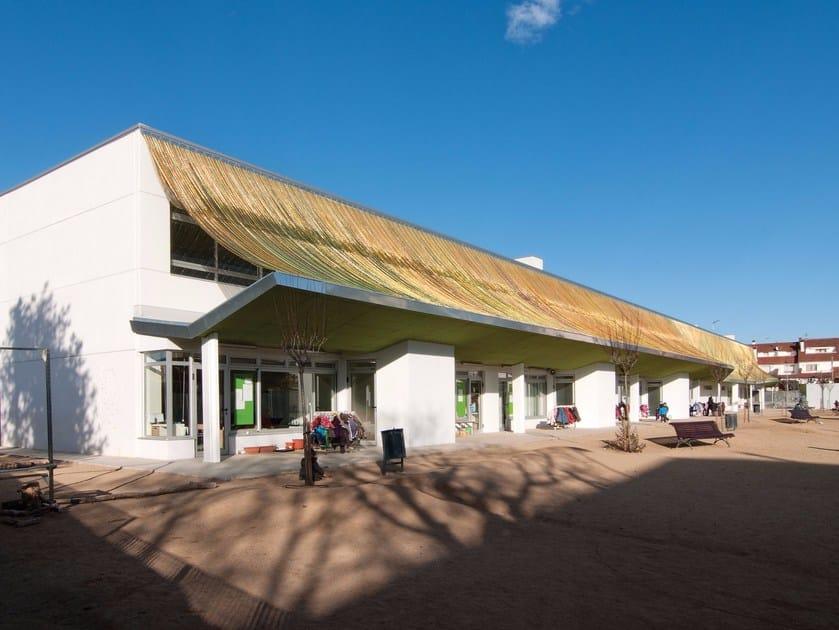 Solar shading / Metal mesh for facade CLADDING EXTERIOR SCHOOL by Kriskadecor