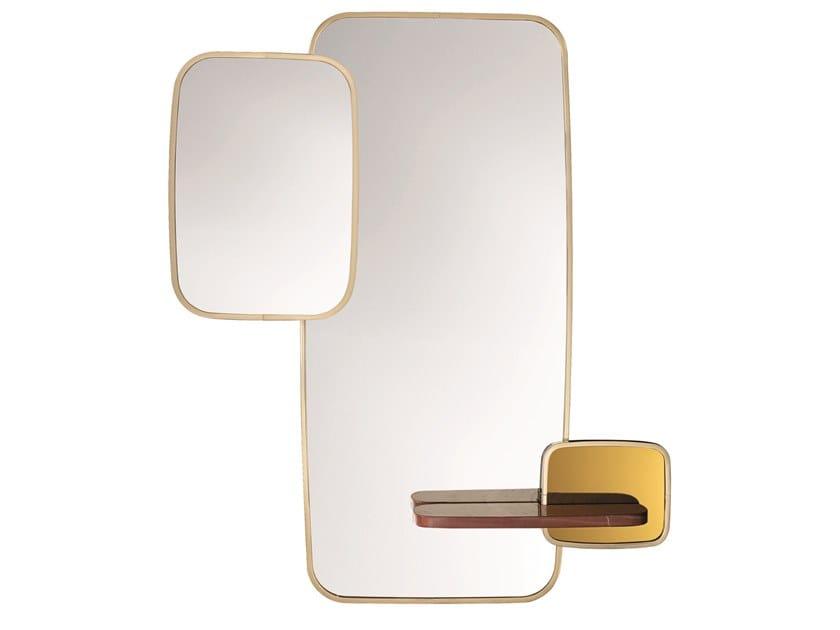 Metal mirror with shelf CLAGNY E by Specimen Editions