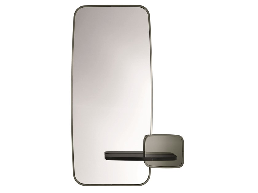 Wall-mounted mirror with marble shelf CLAGNY F by Specimen Editions