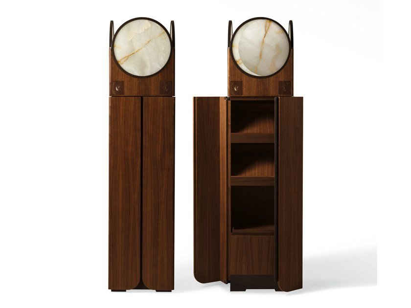 Wooden highboard with built-in speakers CLAIR DE LUNE by GIORGETTI